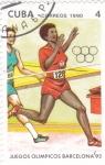 Sellos de America - Cuba -  juegos olimpicos de Barcelona'92