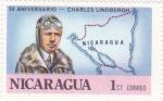 Sellos de America - Nicaragua -  50 aniversario -Charles Lindbergh