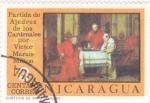Stamps : America : Nicaragua :  partida de ajedrez de los cardenales
