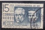 Sellos de America - México -  constituyentes de 1857