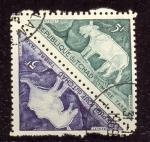 Stamps Chad -  Grabados rupestres prehistóricos en las montañas de Tibesti