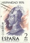 Sellos de Europa - España -  HISPANIDAD COSTA RICA 1976. JUAN VÁZQUEZ CORONADO. EDIFIL 2372