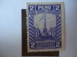 Stamps Peru -  Monumento a la Victoria del 2 de Mayo de 1866, contra España (Guerras Hispanoaméricana) - Pro-Desocu