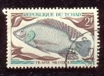 Stamps Chad -  Peces de agua dulce nativo