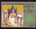 Stamps : Africa : Chad :  Coronación de la Reina Isabel II.