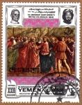 """Stamps Yemen -  """"EL TRIBUTO"""" POR MASACCIO"""