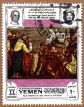 """Stamps Yemen -  """"CRISTO Y EL CENTURION"""" POR VERONESE"""