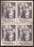 Sellos de Europa - Vaticano -  XXV Aniversario Episcopado de Pio XII  1943 5 liras