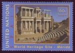 Sellos de Europa - ONU -  ESPAÑA - Conjunto arqueológico de Mérida