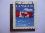 Stamps Canada -  Bandera. Canadá.