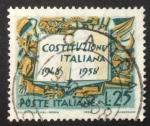 Sellos de Europa - Italia -  10 años constitución Italiana
