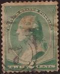 Stamps United States -  George Washington  1887 2 cents
