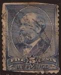 Stamps United States -  James Garfield  1888 5 centavos