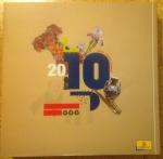 Sellos de Europa - España -  2010 - Album, con filo estuches, sin sellos