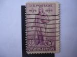 Sellos de America - Estados Unidos -  Estatua de Roger Williams - Rhode Island tercentenary- 1636-1936 (Kamhameha Honolulu) Scott/799.