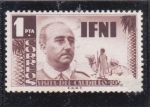 sello : Africa : Marruecos : visita del caudillo-IFNI
