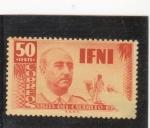 Stamps : Africa : Morocco :  visita del caudillo-IFNI