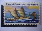 Sellos de America - Estados Unidos -  Hawaaii  - Hawaii Statehood 1959-1984.