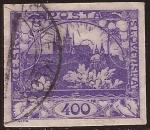 Stamps Czechoslovakia -  Castillo de Hradcany en Praga  1919 400 halir