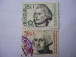 Sellos de America - Venezuela -  Bicentenario de la Independencia de los E.E.U.U. de América 1776-1976 - Washington y Jefferson.