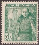 Sellos de Europa - España -  Franco y el Castillo de la Mota  1948  35 cents