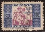 Stamps Spain -  Hogar Escuela de Huérfanos de Correos  1934 5 céntimos