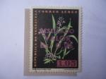 Stamps Venezuela -  Flora: Epidendrum Lividum Lindi.