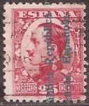 Stamps Europe - Spain -  Alfonso XIII con sobrestampación República Española  1931 25 céntimos