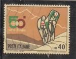 Stamps Italy -  ciclismo-50 giro de Italia