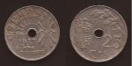 monedas del Mundo : Europa : España :  25 céntimos 1937