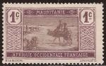 Stamps Africa - Mauritania -  Nativos atravesando el desierto  1913  1 céntimo francés