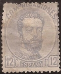 Stamps Europe - Spain -  Amadeo I  1872 12 céntimos