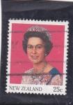 Sellos de Oceania - Nueva Zelanda -  reina Isabel II