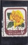 Sellos del Mundo : Oceania : Nueva_Zelanda : rosa amarilla