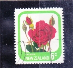 Stamps : Oceania : New_Zealand :  rosa roja