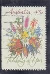 Stamps : Oceania : Australia :  flores-