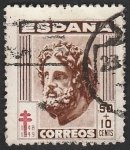 Stamps Spain -  1042 - Esculapio