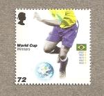 Stamps United Kingdom -  Ganadores Copa Mundo Futbol