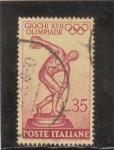 Sellos de Europa - Italia -  XVII olimpiada