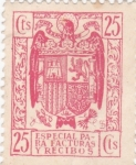 Stamps : Europe : Spain :  Especial para facturas y recibos