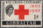 Stamps Europe - Gibraltar -  Centenario - Cruz Roja Internacional