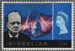 Sellos de Europa - Gibraltar -  Memorial W.L.Churchill