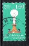 Sellos del Mundo : America : México : 100 años de la invención de la lámpara incandescente por Tomás Alva Edison