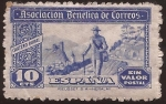 Stamps of the world : Spain :  Asociación Benéfica de Correos. Cartero Rural  1944 10 cents sin valor postal