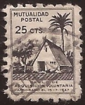 Sellos del Mundo : Europa : España : Mutualidad Postal. Adquisición voluntaria  1947  25 céntimos