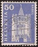 Sellos de Europa - Suiza -  Puerta de Spalen, Basilea  1960 50 cents