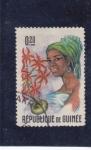 Sellos de Africa - Guinea -  mujer indígena