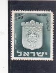 Stamps : Asia : Israel :  escudo de Tel Aviv-