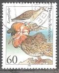 Sellos de Europa - Alemania -   Aves marinas-Ruff pugnax Philomachus.