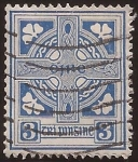 Stamps Ireland -  Cruz Celta  1923 3 peniques